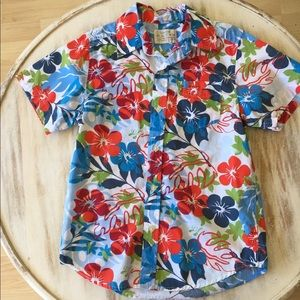 Children's Place Hawaiian 🌺 hibiscus aloha shirt